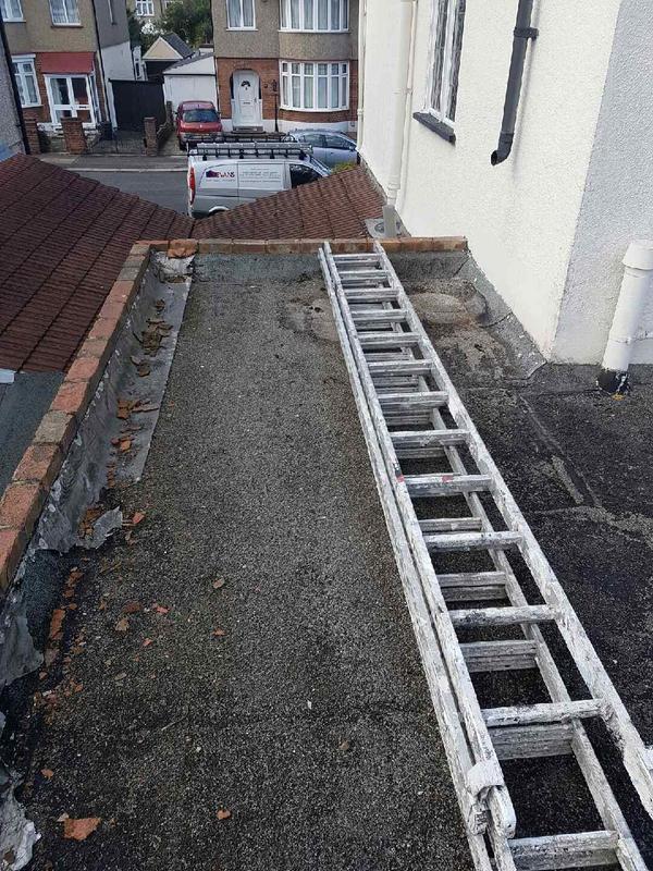 Image 9 - Felt Roof in disrepair before