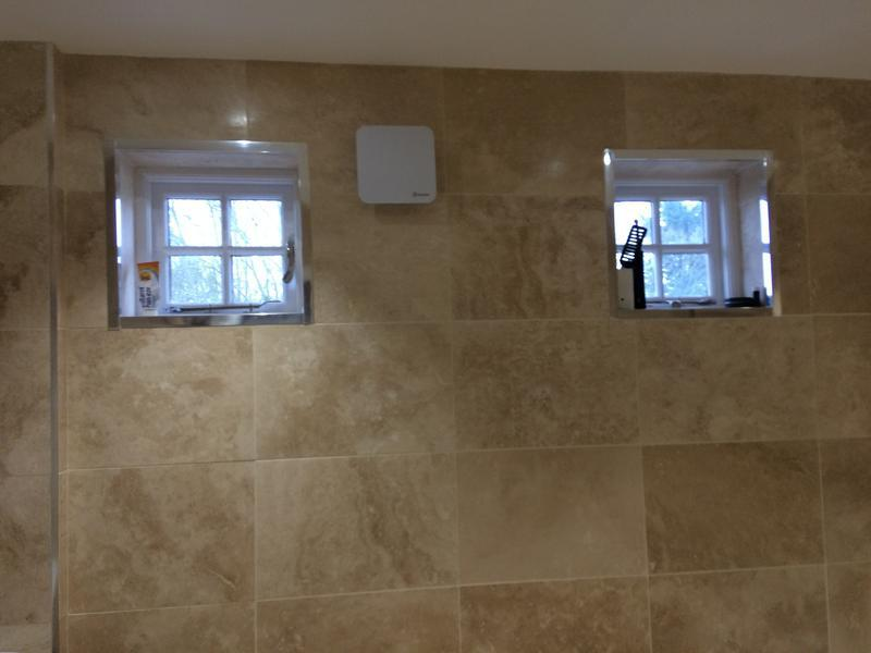 Image 41 - Bathroom renovation using travertine tiles by DKM Developments Ltd, builders, Great Dunmow, Essex.