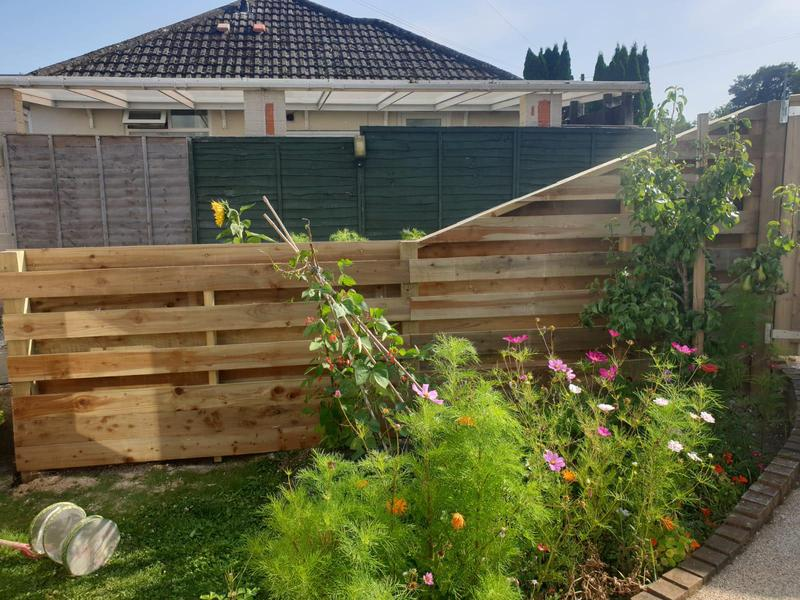 Image 35 - New hit and miss style fencing, Dorchester