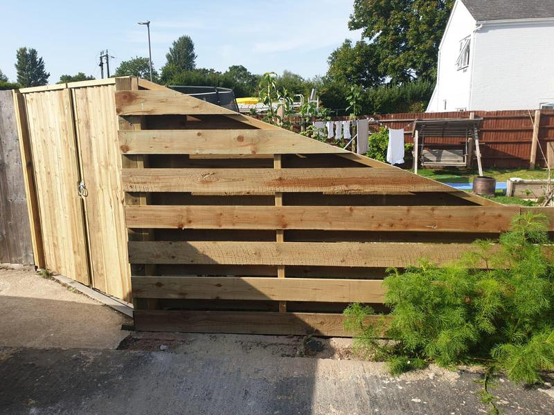 Image 37 - Hit and miss style fencing with new closeboard gates, Dorchester