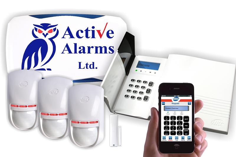 Image 1 - Full wireless alarm system with LCD display built-in siren. Rechargeable battery can connect to your mobile phone via mobile app.
