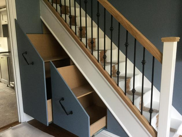 Image 18 - Decorating, woodwork and understairs storage cupboards - After
