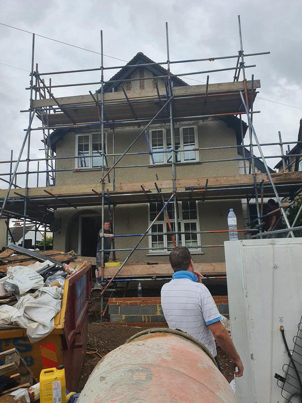 Image 1 - house being rendered in loughton