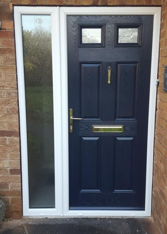 Image 15 - Hucknall design Composite door with side panel In Blue