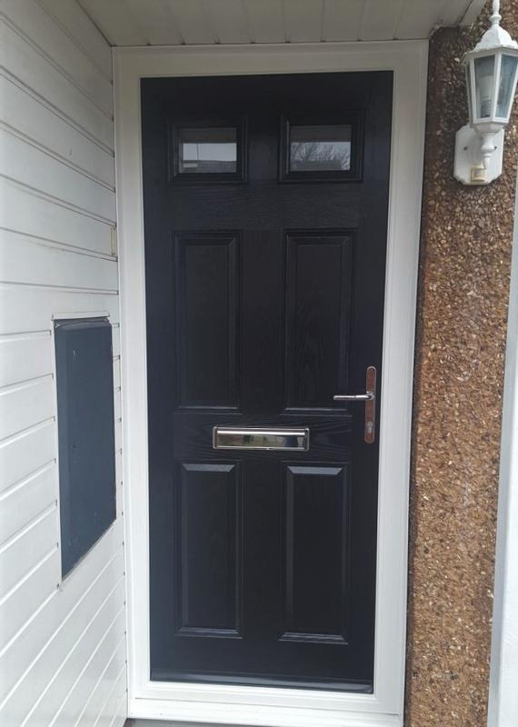 Image 14 - Hucknall design Composite door in Black