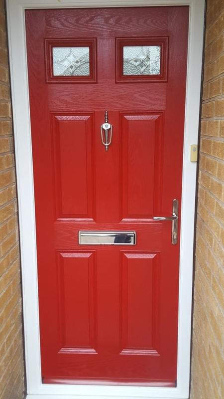 Image 13 - Hucknall design Composite door in Poppy Red