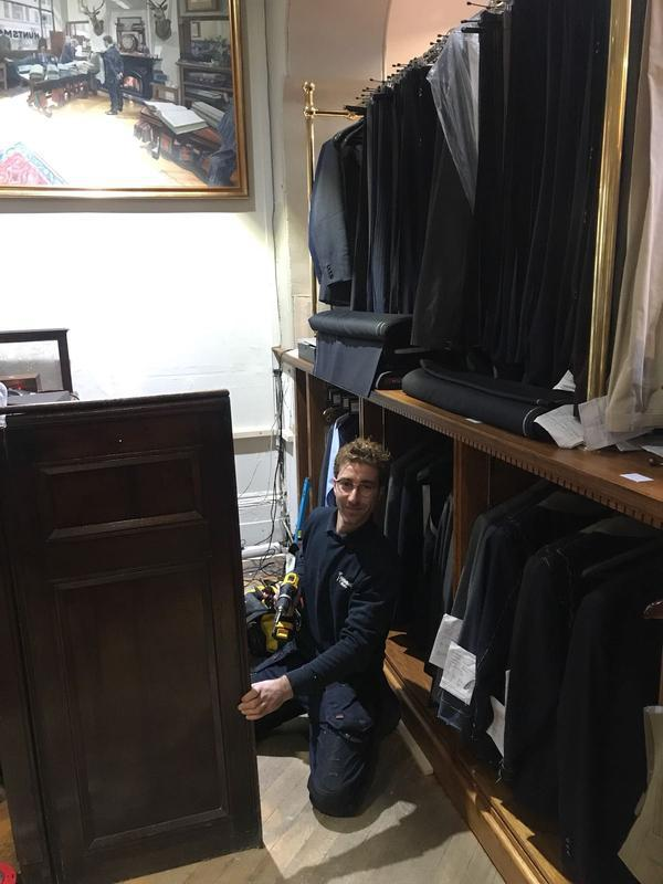 Image 23 - at work in a Savile Row Tailor