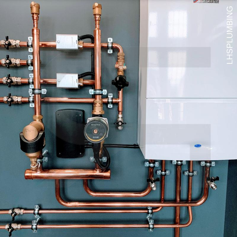 Image 5 - OurHYDЯAH™ Designer Heating Panels fitted with hydraulic separation 2 zoned controlled floors with modulating pump on a Worcester combi boiler.