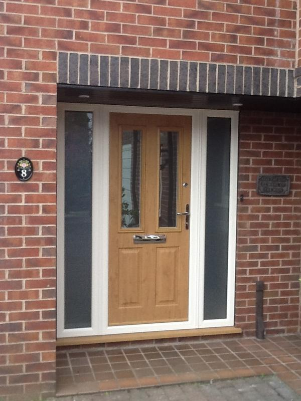 Image 3 - New Irish Oak composite door on Cream frame ref Ian Carter