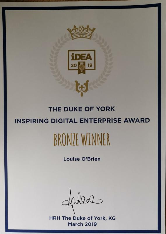 Image 1 - Bronze award for completing the Duke of York's iDEA programme online.