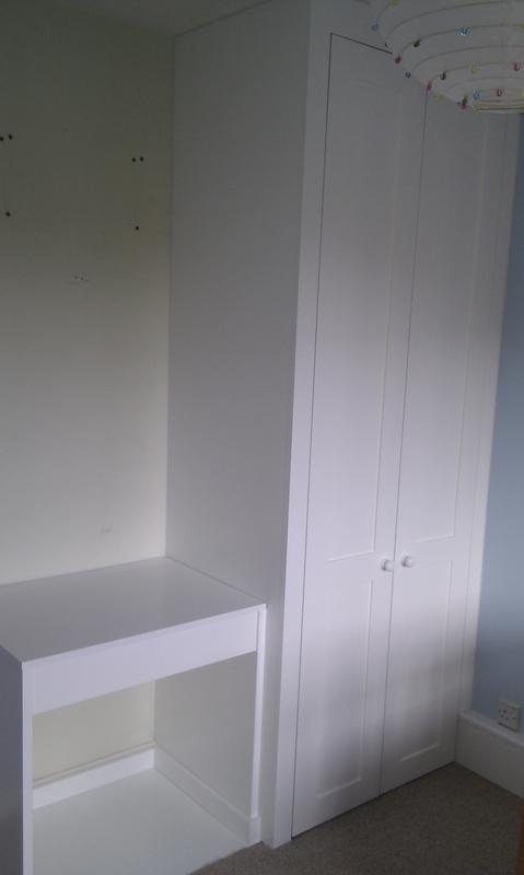 Image 19 - Wardrobe with child's desk fitted alongside.