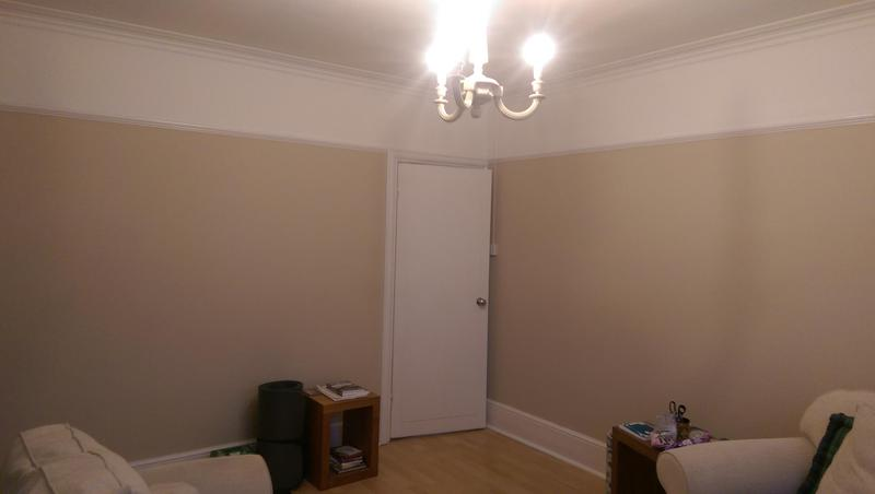 Image 44 - Full decoration of a two bed house in Bromley, SE. Client had 6 rooms painted. All walls, ceilings and wood work. New lights fitted in front room, kitchen and dinning area.