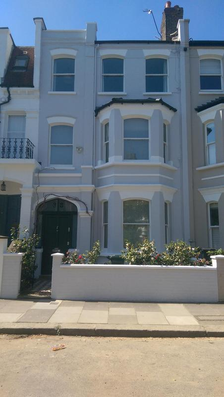Image 65 - Full exterior decoration and repair to the front of a house in Fulham SW6. Repairs made to masonry work and gutters while scaffolding was up. We was all really happy with the outcome and finish.