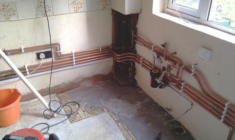 Image 1 - This is pipe work done before a Worcester Bosch Floor Standing combi was in