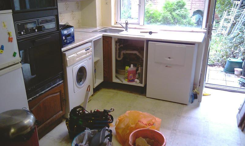 Image 3 - The look after the boiler kitchen sink and unit fitted
