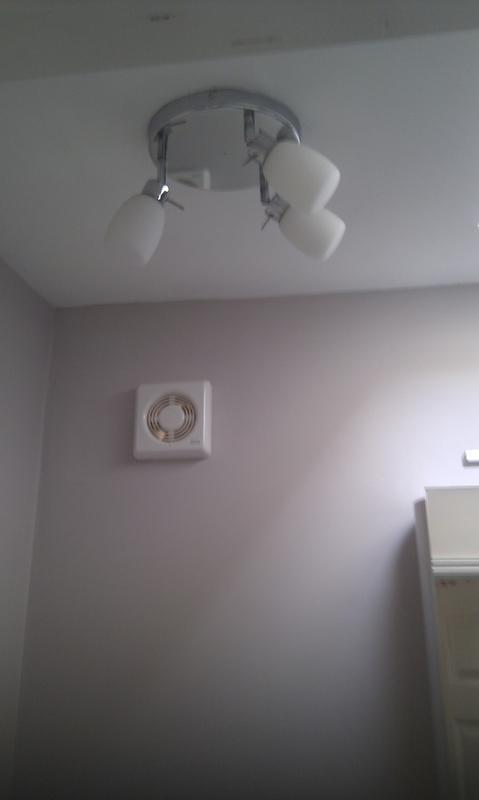Image 6 - bathroom light and fan installed in garage coversion