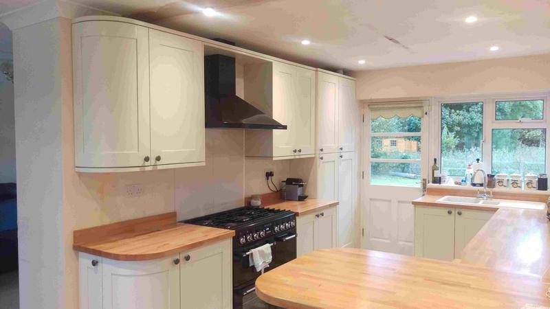 Image 43 - Oyster Shaker. Solid beech block worktops. Installed in Wendlebury, Oxfordshire.