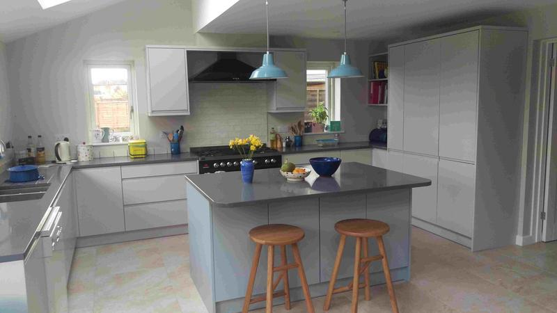 Image 37 - Modern J Profile Doors and Quartz worktops. Installed in Islip, Oxfordshire.