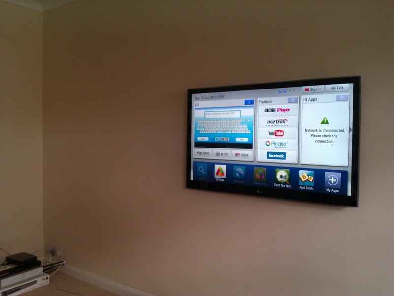 Image 5 - Wall mount and hide cabling