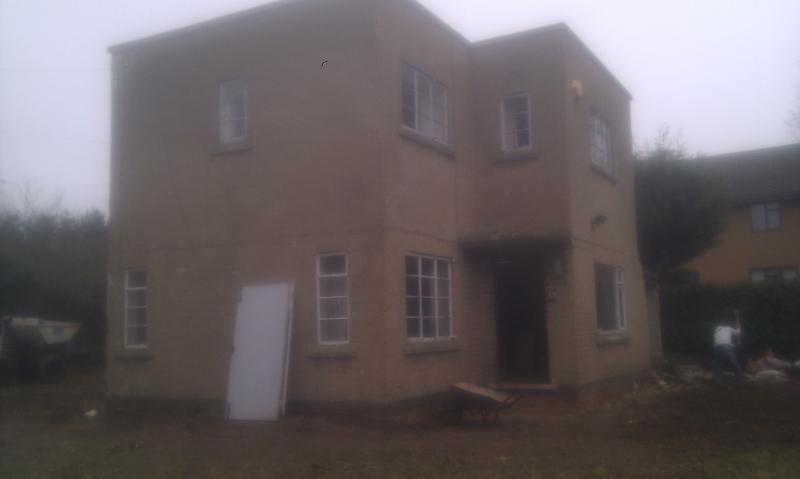 Image 17 - BEFORE - work begins on extending and renovating this house Feb 2012