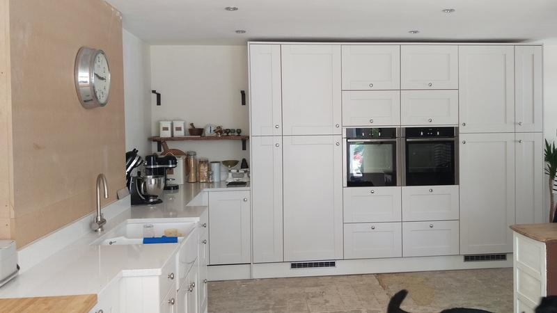 Image 41 - Crown Imperial Midsomer painted shaker. Designed, supplied and installed in Marsh Baldon, Oxfordshire.