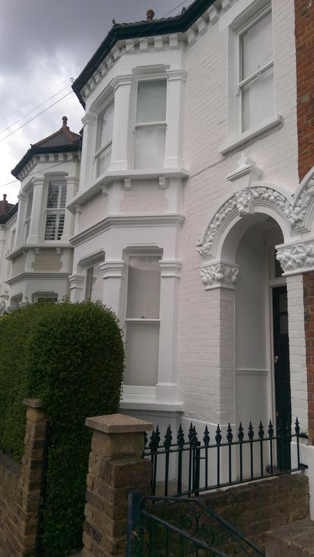 Image 58 - Exterior decoration of a house in Clapham common. All the front was painted and repair. All masonry and sash windows. Client was very happy with the overall finish.