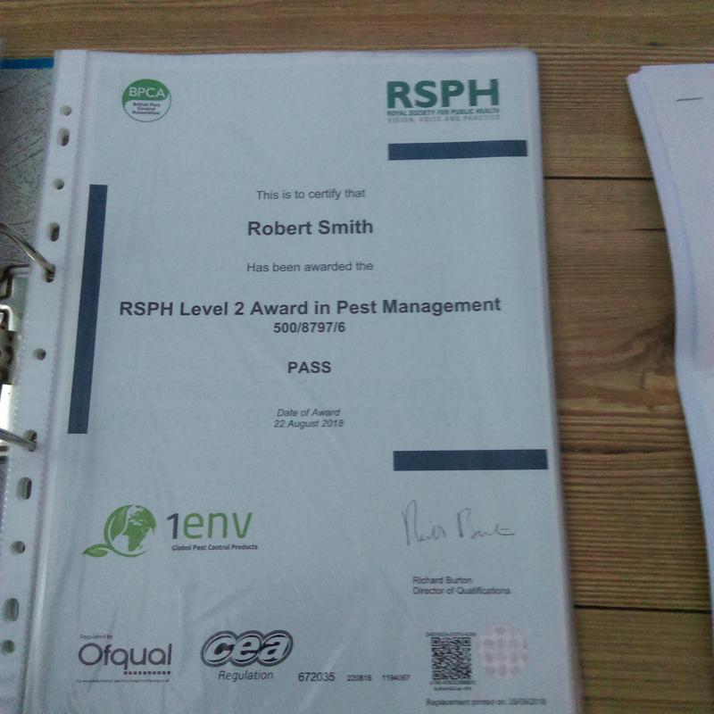 Image 29 - We have the full pest management certificate.