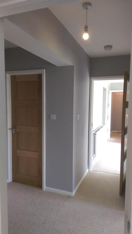 Image 55 - Interior decoration of a two bedroom flat in beckenham. Whole flat was painted. All walls, ceilings and woodwork. Colours picked by the client and finished to a high standard.