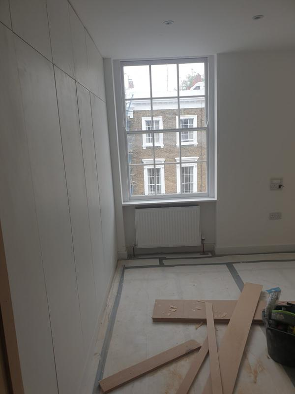 Image 25 - Two bedroom flat after refurbishment and hand made wardrobes.