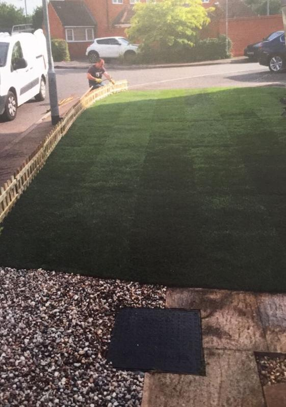 Image 40 - Freshly laid turf