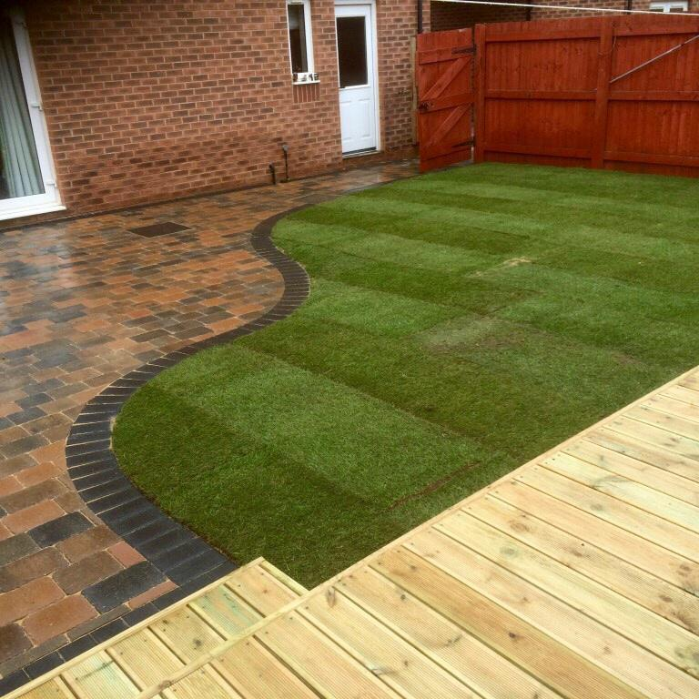 Image 58 - Marshalls Paving with new turfing