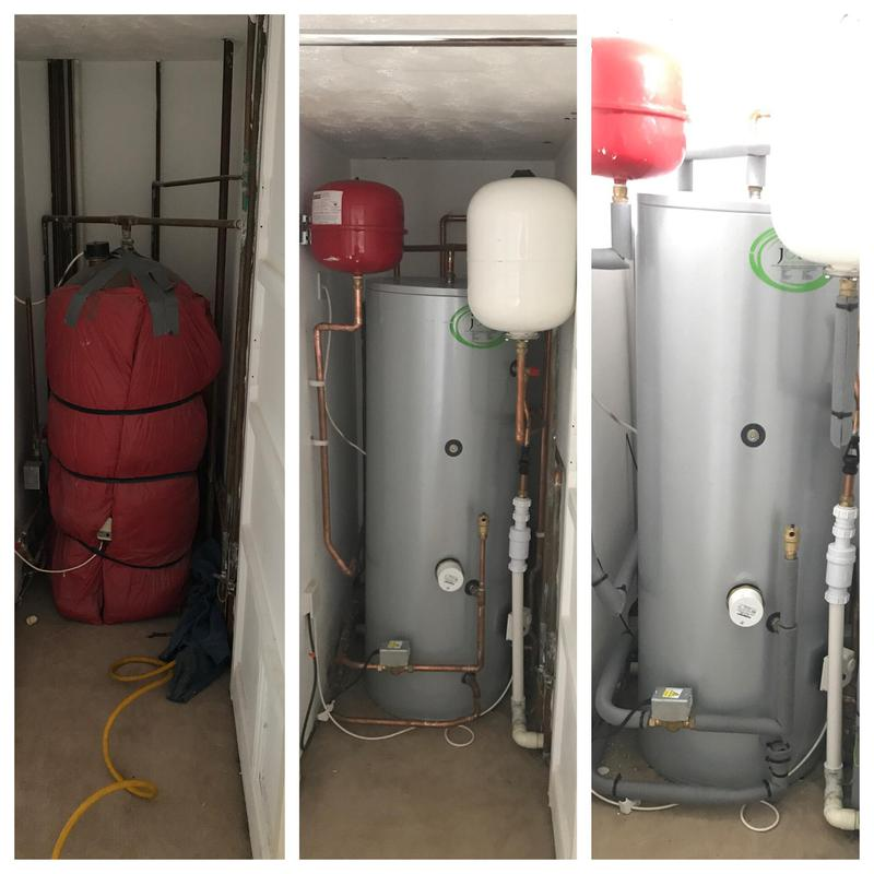 Image 35 - Vented hot water and cold water storage tank replaced with an indirect unvented hot water cylinder