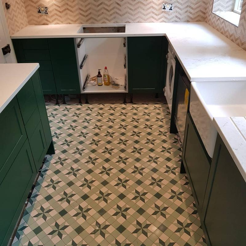 Image 12 - Floor mosaic victorian style