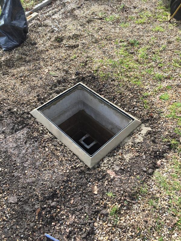 Image 15 - Excavation and raise hidden manhole to ground level