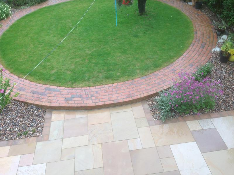 Image 6 - Circular brick pathway and new Lawn