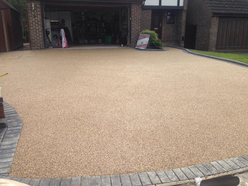 Image 41 - New resin bond driveway with edging