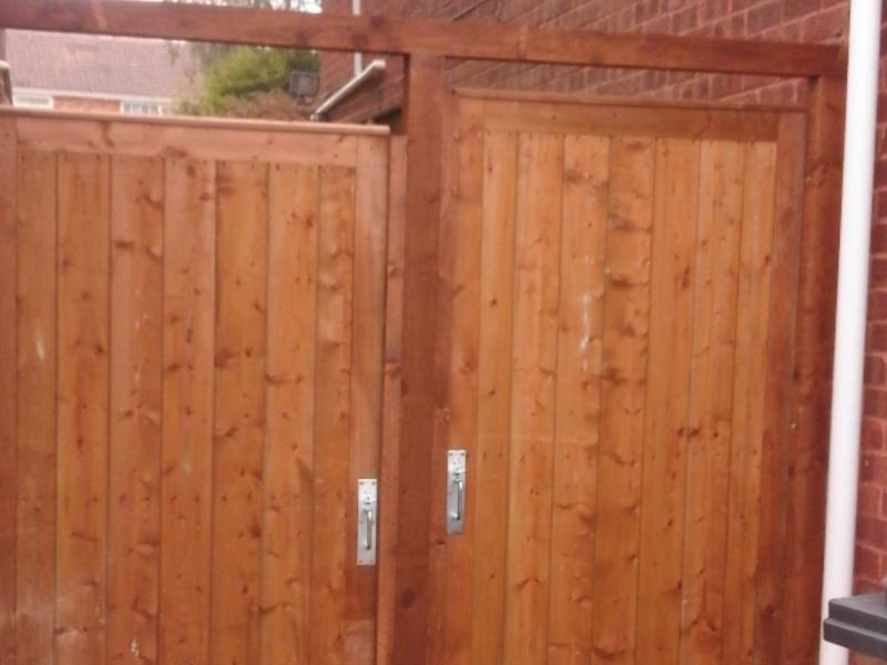 Image 1 - Wooden gates with new frame