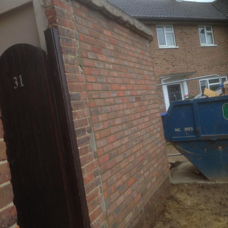 Image 85 - Garage doors brick up