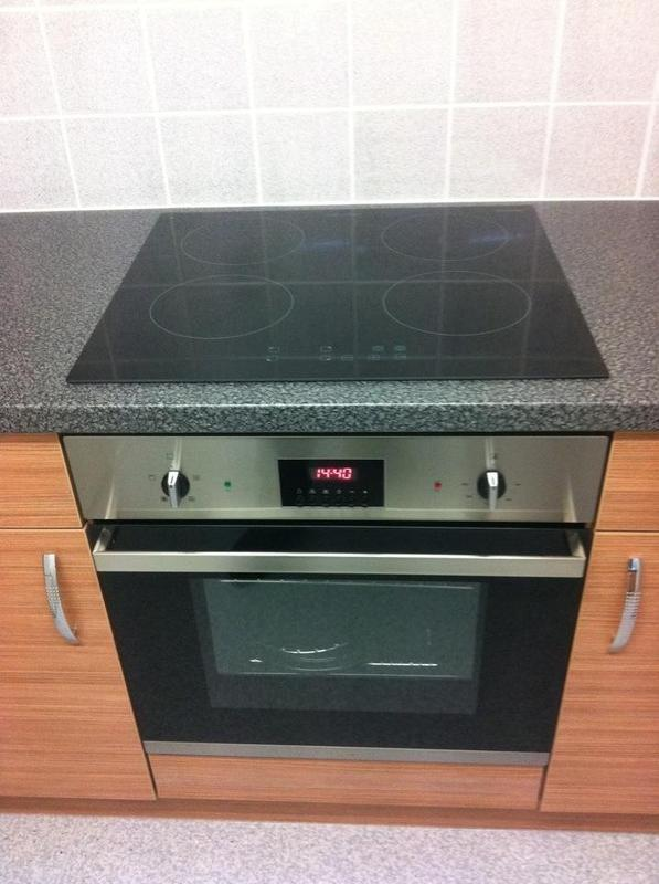 Image 2 - A recent electric hob and oven installation.