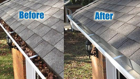 Image 2 - Guttering before & after