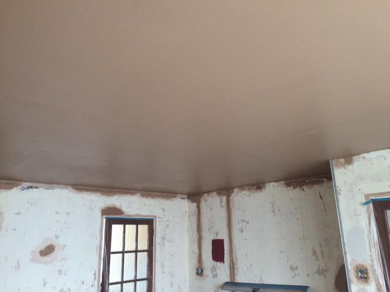 Image 36 - Ceiling with soundcheck plasterboard skimmed