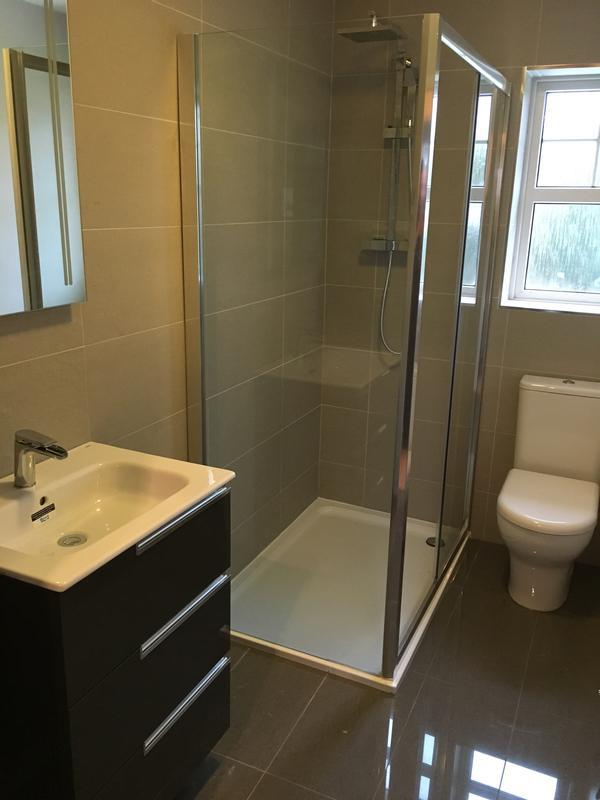 Image 34 - full new bathroom installation cluding walk in shower, toilet and wash basin.