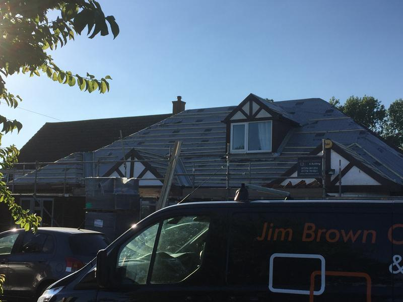 Image 130 - roofing completed on loft extension
