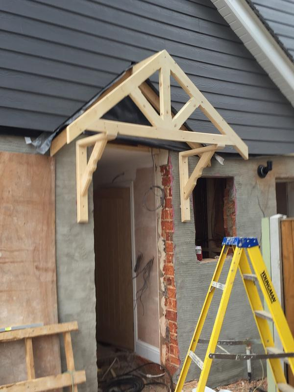Image 22 - hand made gallows brackets and porch front to a property in benfleet