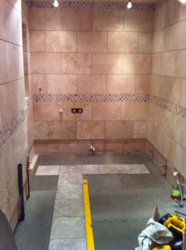 Image 11 - Bathroom in progress