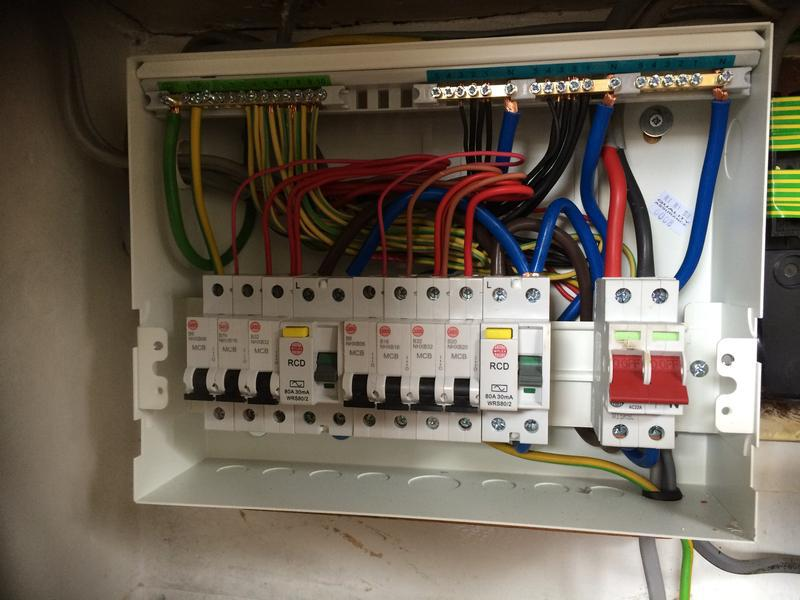 Image 2 - A recent Consumer unit replacement. New regulations require Metal clad consumer units to be fitted