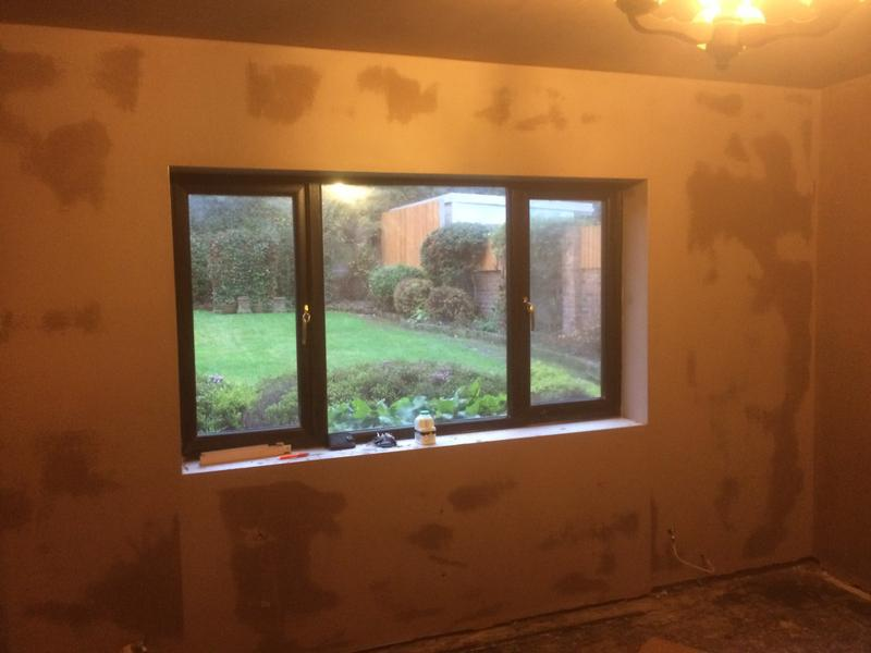 Image 59 - Lounge skimmed after dry lining