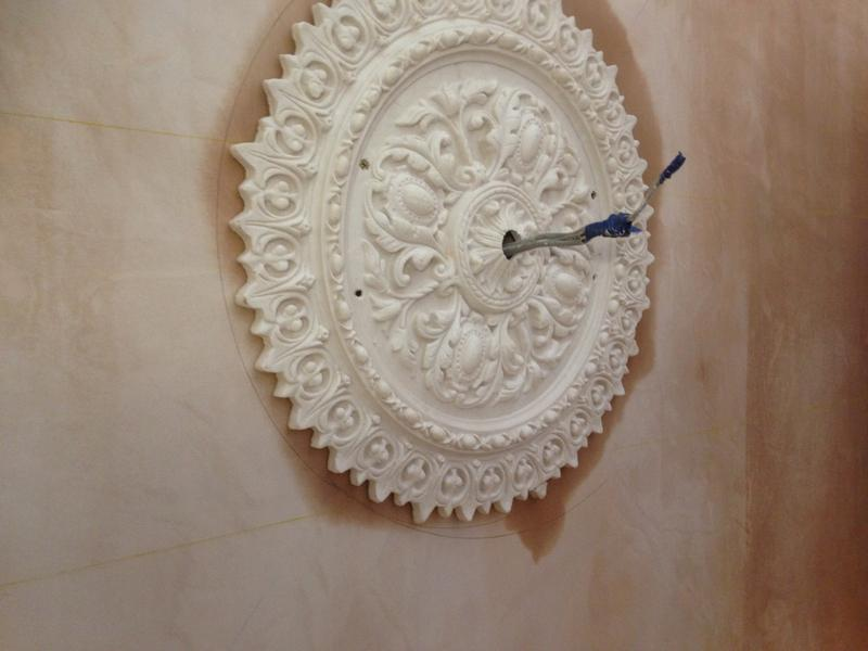 Image 118 - New ceiling rose installed