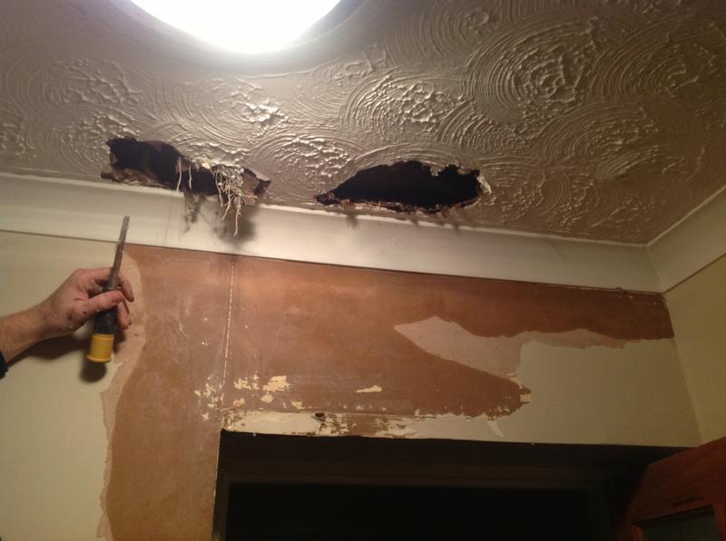 Image 19 - Burst pipe in bathroom