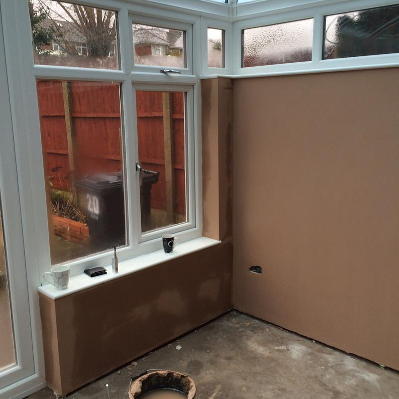 Image 28 - Conservatory dry lined and skimmed